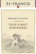 St. Francis Winery Zinfandel Old Vines 2012
