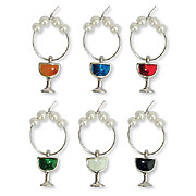 Wine Glass Charms - Wine glasses