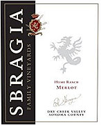 Sbragia Family Vineyards Merlot Home Ranch