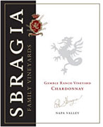Sbragia Family Vineyards Chardonnay Gamble Ranch 2008