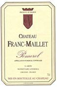 Chateau Franc Maillet 375ml 2003