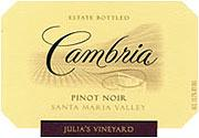Cambria Pinot Noir Julia's Vineyard 2011