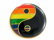 Lapel Pin  Rainbow Ying-Yang