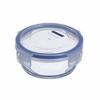 "Luminarc Pure Box Round  Glass Dish with Snap-lock Lid 5.25 ""  x 2.25"