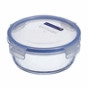 "Luminarc Pure Box Round  Glass Dish with Snap-lock Lid 6.4 ""  x  2.6"