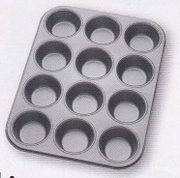 Muffin Pan 12 Cup  Non-Stick Carbon Steel