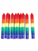 Rainbow Dipped Small Taper Candle (set of 10)