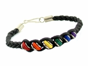 Rainbow Ceramic Narrow Beads Bracelet