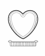 "Silicone Bakeware Heart Mold 4-1/2""  6pc."