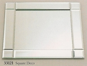 """Charger Mirrored Square Deco   Style   13"""""""