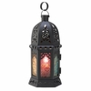 """Enchanted Rainbow Moroccan Style Candle Holder Lantern  10-1/2""""h  FREE SHIPPING"""