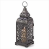 """Candle Lantern Moroccan Tower  13""""h"""