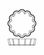 """Silicone Bakeware Tartlet Fluted 3-1/8""""dia  6pc."""