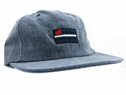 Demin Cap Embroidered Leather Pride Flag