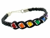 Rainbow Ceramic Bead Braided Bracelet