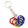 Keychain Snap-Apart with  Anodized Aluminum Rainbow Rings