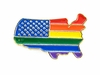 Lapel Pin Rainbow USA Shape US Flag