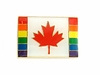Lapel Pin Canada Maple Leaf on Rainbow Flag