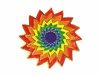 Lapel Pin Rainbow Sunburst