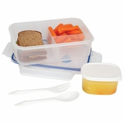 LaCuisine� 34oz Locking Divided Lunch Container