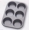 Muffin Pan 6 Cup Non-Stick Carbon Steel