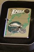 Zippo Lighter Philadelphia Eagles NFL Yr 2000 Series