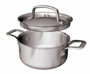 Paderno Sauce Pot with Lid Triple-Ply Stainless Steel Tabletop Sized .4QT