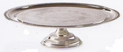 "Elegance® Cake Stand Silver Plated 12-1/2""dia"