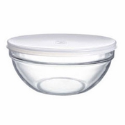 """Luminarc Stackable Bowl with White Lid  6-1/2"""""""
