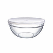 Luminarc Stackable Bowl with White  Lid 9""