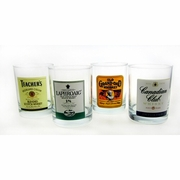 Luminarc Top Shelf Labels Assorted Double Old Fashioned Glass 13.25oz / Set of 4