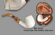Servi Meerschaum  Pocket Tobacco  Pipe Military Stem