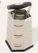 Grater, 6-Sided Stainless Steel