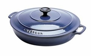Chasseur Enameled Cast-Iron Rondeau Pan with Lid