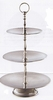Elegance® Tiered Serving Trays, Hammered Stainless Steel Serving Stand  3-Tier