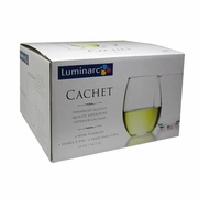 Luminarc Cachet Stemless Wine Glass 15oz  4/set