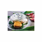 """Luminarc  Cheese Platter with Dome  Glass    12-1/2""""dia"""