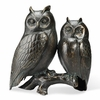 Owl Pair on Branch  Cast Iron