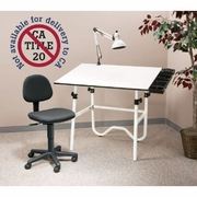 Creative Center Combo White Base and Top (Table, Chair, Lamp)