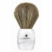 Vie-Long Horse Hair Shaving Brush, Acrylic White and Transparent Handle