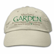 Ball Cap, Advice from a Garden