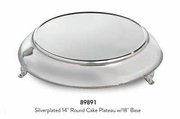 """Elegance® Silverplated 14"""" Round Cake Plateau with 18"""" Base"""