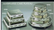 Silverplated Cake Plateaus  Round or Square