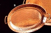 Copper Plated Tray Oval  Small