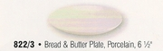Porcelain Coupe Style Bread and Butter Plate 6-1/2""
