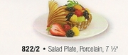 Porcelain Coupe Style Salad Plate 7-1/2""