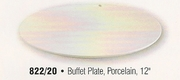 """Porcelain Coupe Style Buffet  Plate 12"""""""