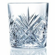 Cristal d'Arques  Masquerade Old Fashioned  Glasses Diamax  10oz  6/set