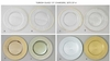 Chargers Elegance Turkish Glass Collecton  4/set per style