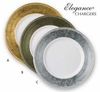 """Elegance® Chargers Round Lacquer Polyresin 13""""  4/set"""